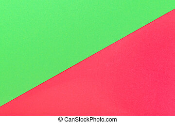 red and green background with diagonal, creative idea