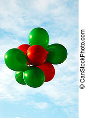 Red and Green Balloons - Red and Green Christmas balloons...