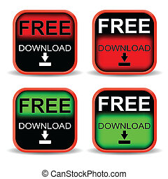Red and green button download