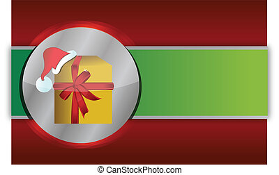 Red and green christmas gift background