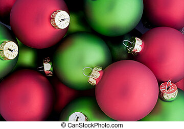Christmas Ornaments - Red and Green Christmas Ornaments