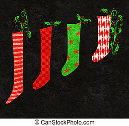 Red and Green Christmas Stockings