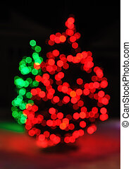 Defocused Christmas Tree Lights