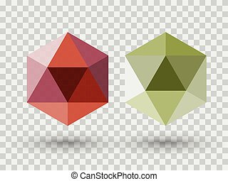 Red and green diamond