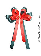 Red and green gift bow