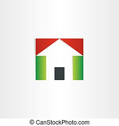red and green house icon