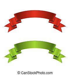 Red and green ribbon