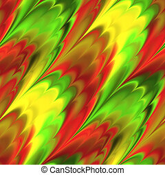 red and green streaks - red, green and yellow streaked...