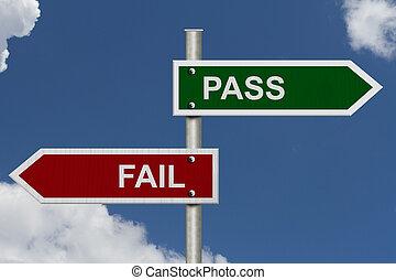 Pass versus Fail