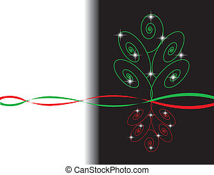Red and Green Xmas Tree Design