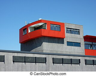Red and grey building