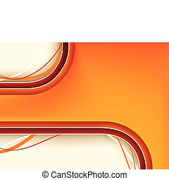 Red and Orange Background with copyspace. Editable Vector...