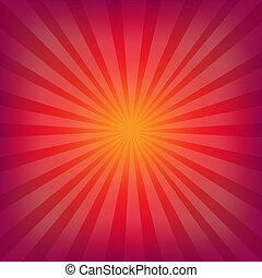 Red And Orange Background With Sunburst