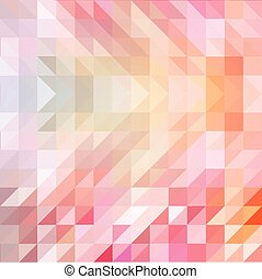 Red and orange colored triangular pattern background