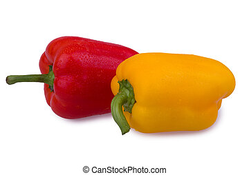 red and orange peppers