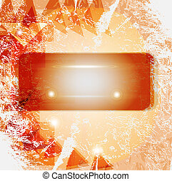 Red and orange retro abstract background