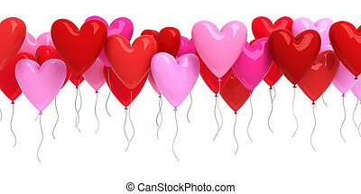 Red and pink ballons