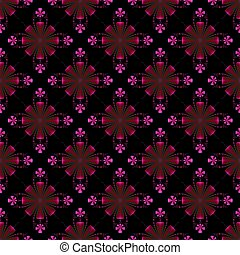 Red and Pink Floral Tile