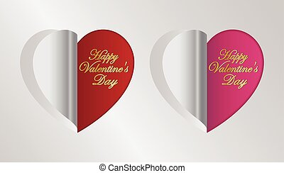 red and pink heart folding
