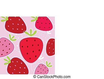 Red And Pink Strawberry Background