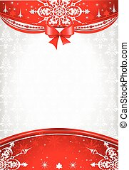 Red and silver christmas background