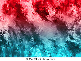 Red and teal abstract texture background