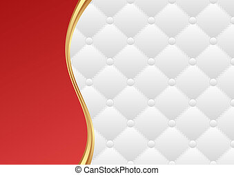 red and white background with quilted pattern