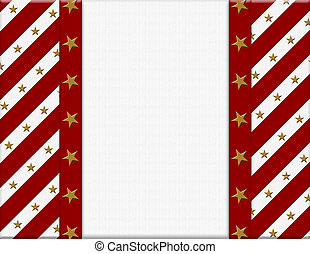 Red and White celebration frame with stars for your message
