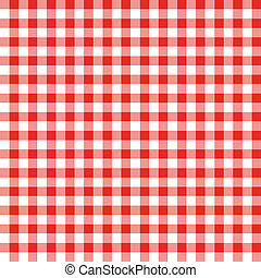 Red and White Checkered Fabric Pattern - Seamless background...