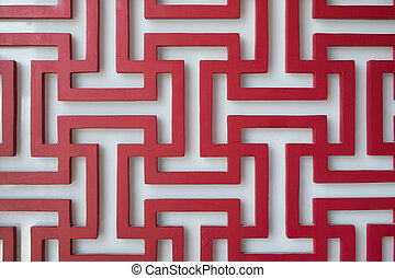 Red and white chinese oriental texture