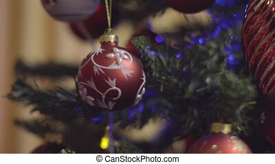 Red and White Christmas and New Year Decoration. Abstract...