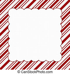 Red and White Christmas Frame for your message or invitation