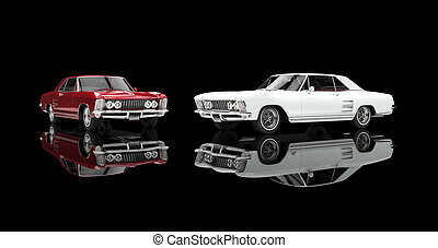 Red And White Classic Cars