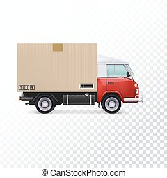 Delivery vehicle truck