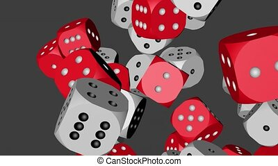 Red and White Dice Collided 4K