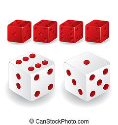 Red and white dice set