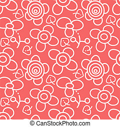 Red and white floral pattern
