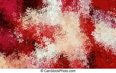 red and white flowers abstract background