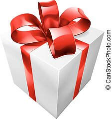 Red and white gift
