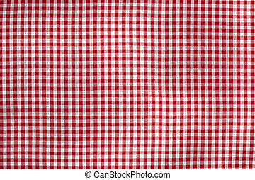 Red and White Gingham Checkered Tablecloth Background - Red...