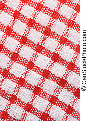 Red and white gingham surface texture