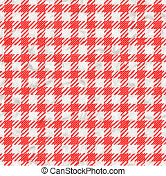 Red and white gingham tablecloth texture seamless