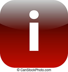 red and white information button or icon