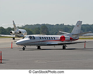 Red and White Jet