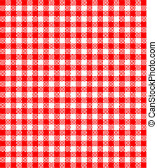 Red and white popular background pattern for picnics