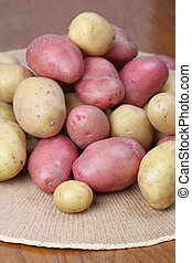 Red and white potatoes