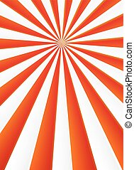 Red and white rays abstract circus poster background