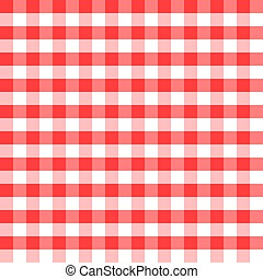 Red and white squares as the background - illustration