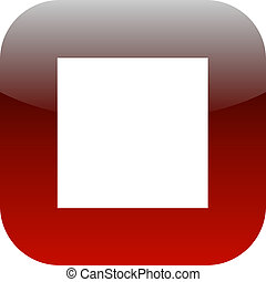 red and white stop square icon