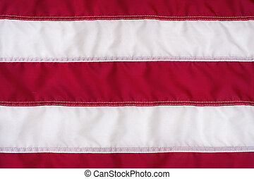 Red and White Stripes on American Flag